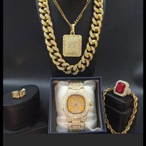 💎💎💎Men's 6 piece jewelry set 💎💎💎